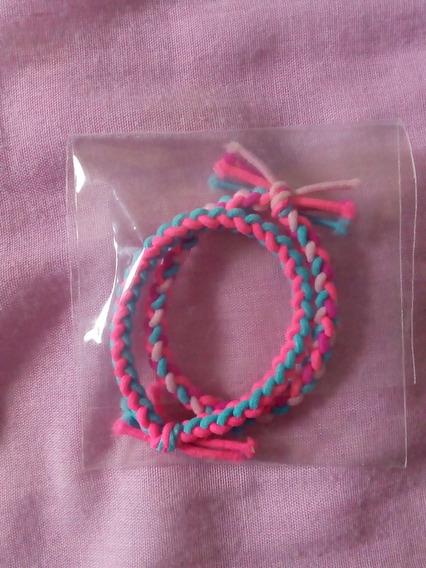 Pulsera De Hilo Para Mujer En Color Rosa-azul