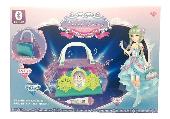 Microfone Infantil Meninas Princesas Karaoke Bluetooth Caixa