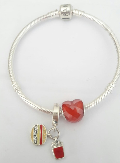 Bracelete Prata De Lei Charms Pandora (original)