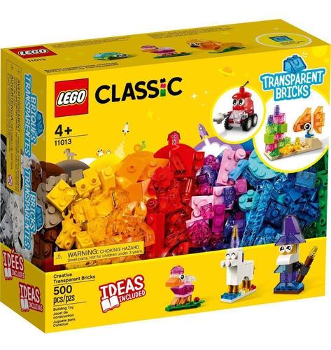 Lego Classic Blocos Transparentes Criativos 500 Peças -11013