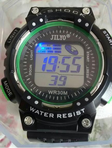 Relógio Digital Led Troca De Cor Top Moderno Barato