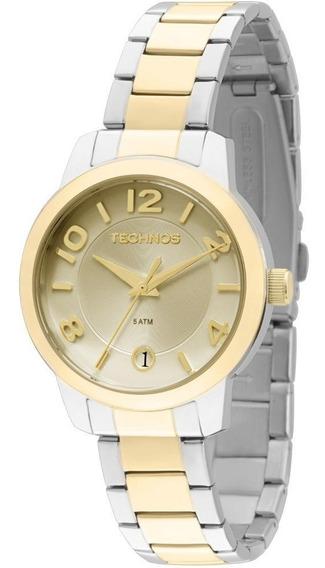Relógio Feminino Technos 2115kog/5x 32mm Aço Dourado E Prata