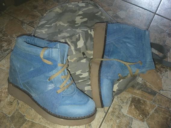Zapatillas Botas 47 Street Cuero 37