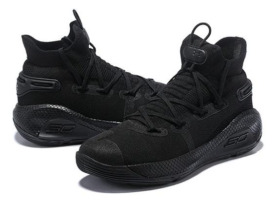 Tênis Under Armour Curry 6 Triple Black#pronta Entrega