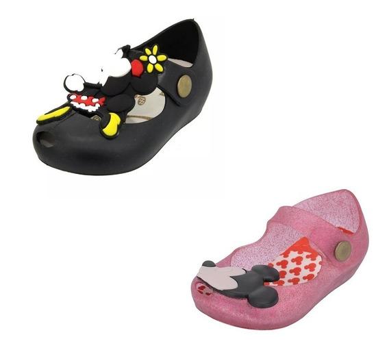 Kit 2 Sapatilhas Infantil Mickey Promoção Queima De Estoque