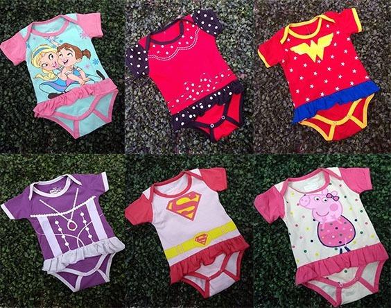 Bodys Para Bebes Niña Princesas Super Heroes