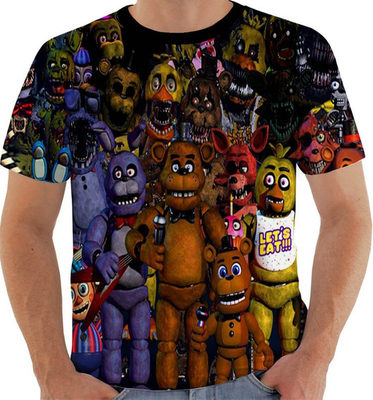 Camiseta Vw 150 Five Nights Freddy Bonnie Chica Foxy Golden