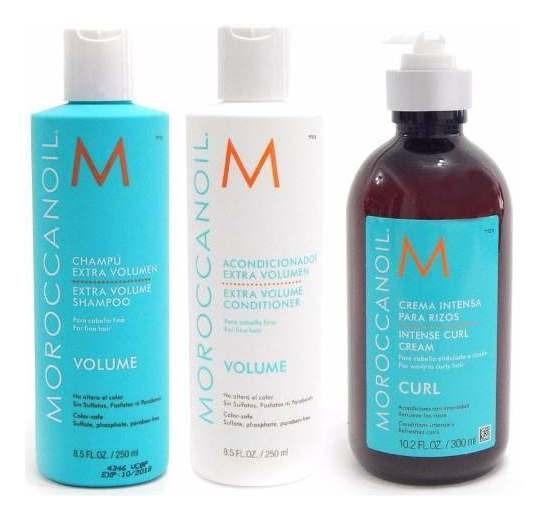 Moroccanoil Kit Volume Shampoo +acon X250+ Curl Cream Peinar