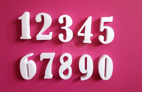 Letras Corporeas 10 Cm Numeros Tu Nombre Importa 50 Unidades