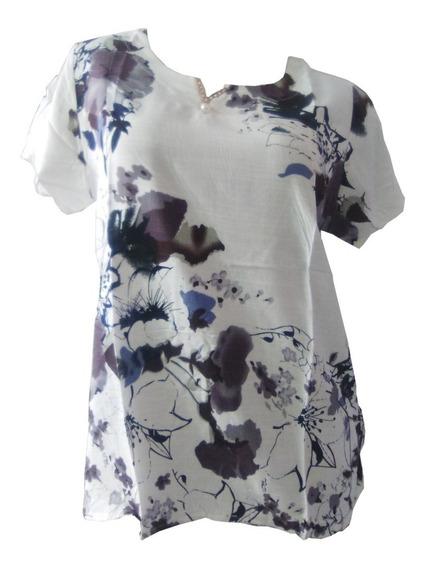 6 Blusa Floral Dama Mujer Playa Casual Camisa Mayoreo