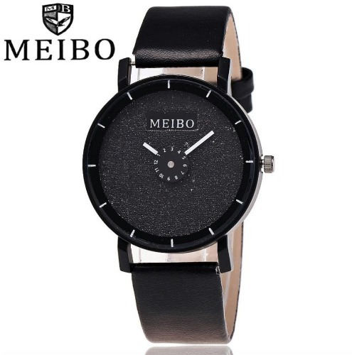 Relógio Feminino Preto Importado Meibo Barato Promoção