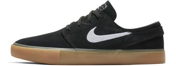 Zapatillas Nike Sb Janoski Rm Negra Blanca Goma Marron