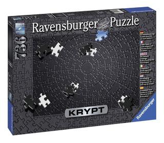 Krypt Negro Sin Imagen 736 Pz El Puzzle Más Difícil 50x70cm
