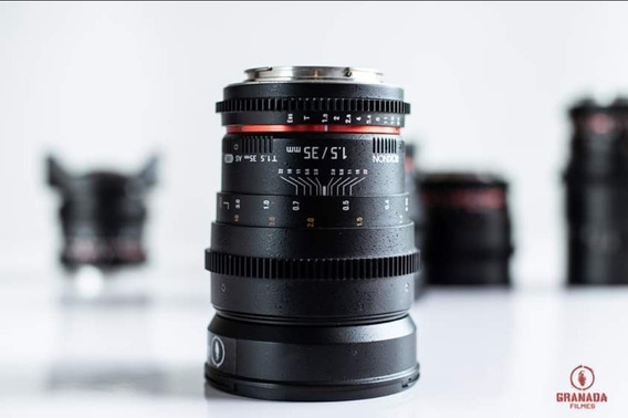 Lente Rokinon 35mm T1.5 Mount Canon Ef