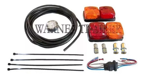 Kit De Luces Faros(focos Led) Completo Para Trailer