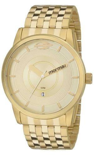 Relógio Masculino Mormaii Dourado Mo2115ac/4d Clássico