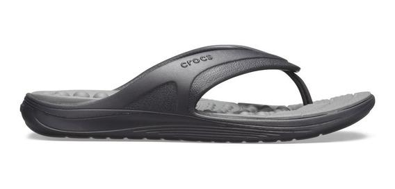 Crocs Reviva Flip - Preto E Cinza