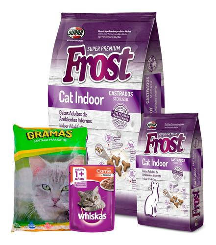 Imagen 1 de 5 de Frost Gato Cat Indoor 8,5kg + Promo Piedras + Envío Gratis!