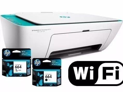 Impressora Hp Deskjet 2675 3x1 I/s/c Wireless Bivolt Branco