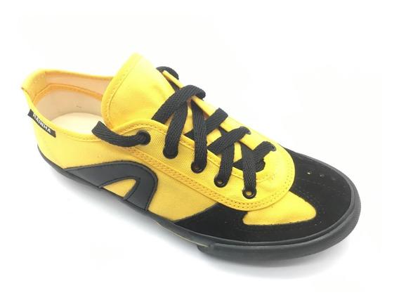 Tênis Rainha Vl Vôlei Futsal Capoeira Preto, Amarelo
