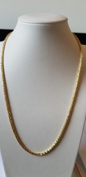 Corrente Palmeira 50cm Em Ouro Amarelo 18k