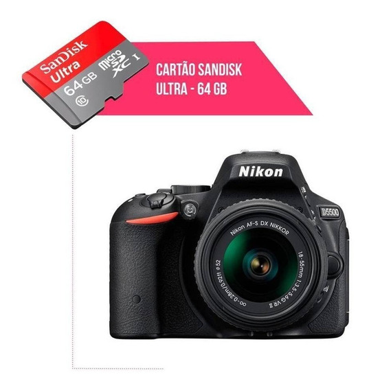 Cartão De Memória 64gb Ultra Para Câmera Nikon D5500