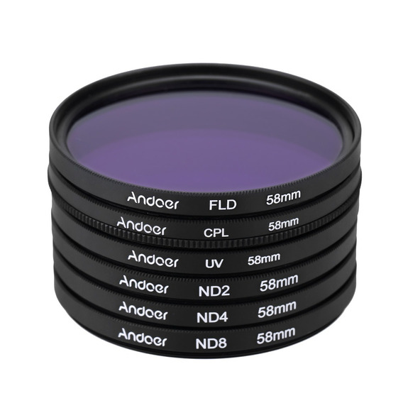 Andoer 58mm Uv + Cpl + Fld + Nd(nd2 Nd4 Nd8) Fotografia