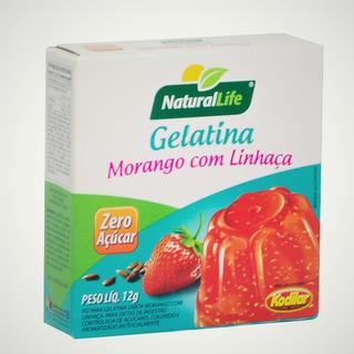 Kit De 12 Gelatina Sabores Com Linhaça 12g Natural Life