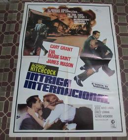 Cartaz Cinema Alfred Hitchcock Intriga Internacional Raro!!!