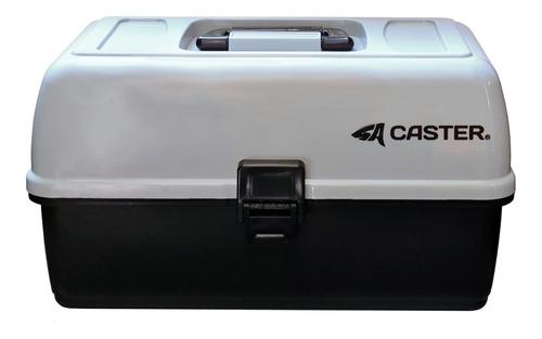 Imagen 1 de 6 de Caja Pesca Caster Tres Bandejas 12 Divisiones 36x19x20cm 006
