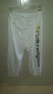Pants Dama True Religion Talla Large Blanco