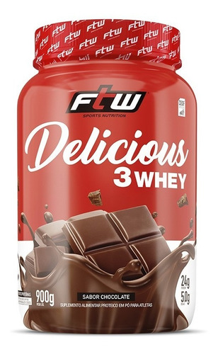 Delicious 3 Whey 900g - Ftw Sabor Chocolate