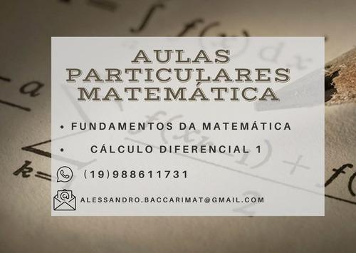 Imagem 1 de 1 de Aulas Particulares De Matemática