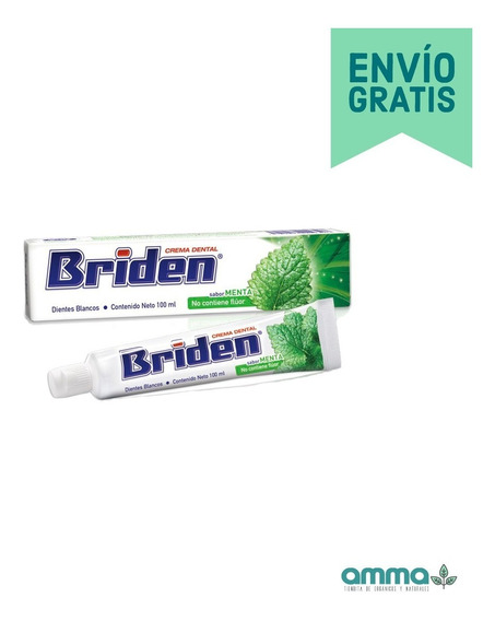 Briden Crema Dental Sin Flúor Caja 10 Pz 100ml + Envío