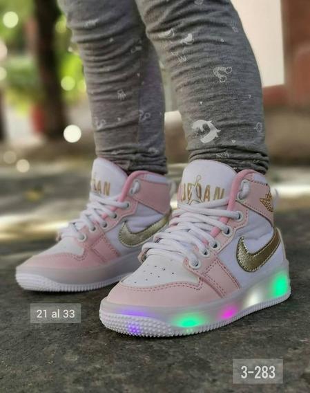Zapatos Niñas Y Niños De Luces Led 25 Verdes