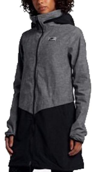 Casaco Sobretudo Vestido Nike International Grey Black
