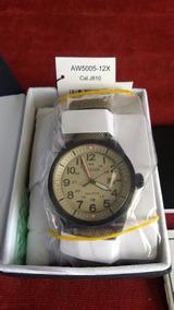Citizen Militar Aw5005-12x Pulseira Nylon/couro
