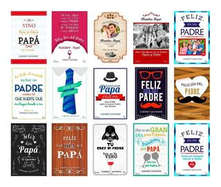 Plantillas Etiquetas Para Vino Día Del Padre Papa 15 Modelos