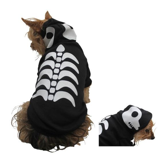 Disfraz Esqueleto Perro Halloween Talla 8 Mascota Pet Pals