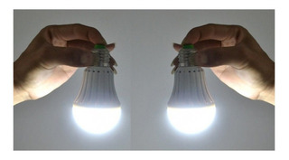 Kit 2 Lâmpadas De Emergência 7w 6500k - Luz Branca - Bivolt
