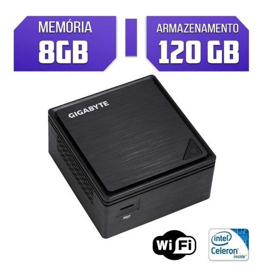 Mini Pc Quad Core Gigabyte, 8gb Ram, Ssd 120, Wifi