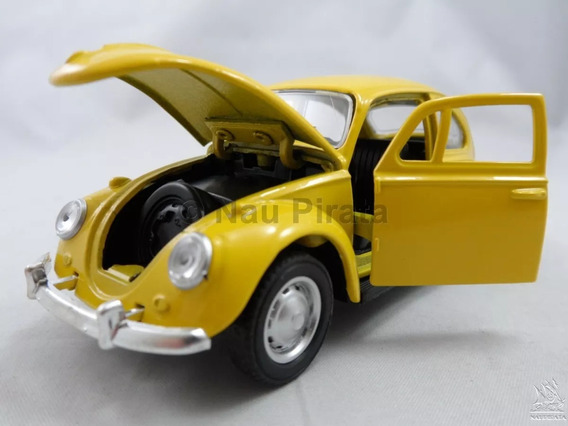 Miniatura Fusca Escala 1/32 Amarelo [ Abrem As Portas E Capo
