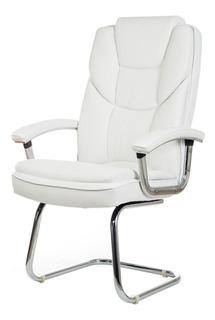Cadeira Fixa Interlocutor Escritório Milão - Branca