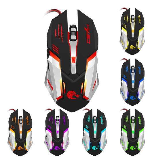 Hxsj 5000dpi 6 Botões 7 Color Efeito Óptico Gaming Mouse Dpi