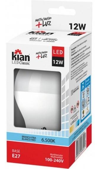 Kit 30 Lampada Led Bulbo Kian 12w Branca 6500k Inmetro