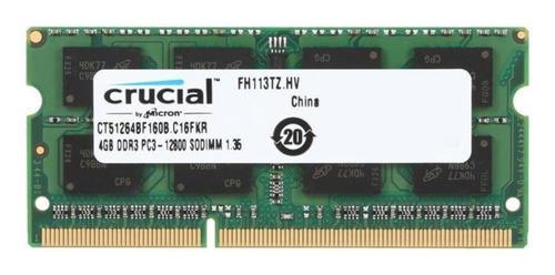 Imagen 1 de 2 de Memoria Ram Crucial 4gb Ddr3l-1600mhz Ct51264bf160b Mac Y Pc