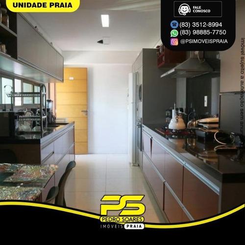 Apartamento Com 5 Dormitórios À Venda, 316 M² Por R$ 1.900.000,00 - Miramar - João Pessoa/pb - Ap4577