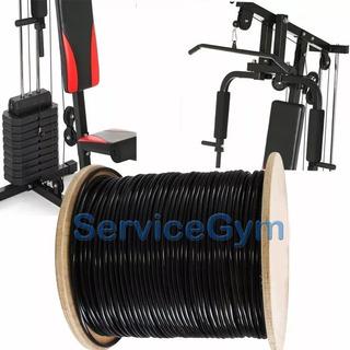 20 Mt X 5 Mm Cable De Acero Forrado Gimnasio Servicegym
