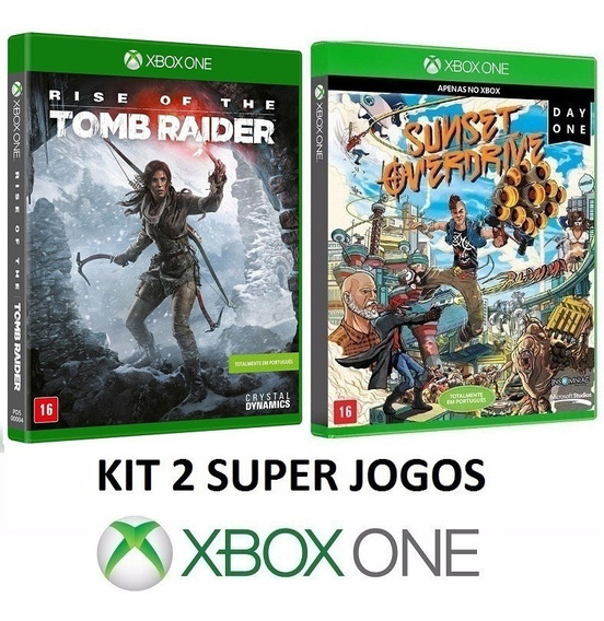 Rise Tomb Raider + Sunset Overdrive - Midia Fisica Xbox One