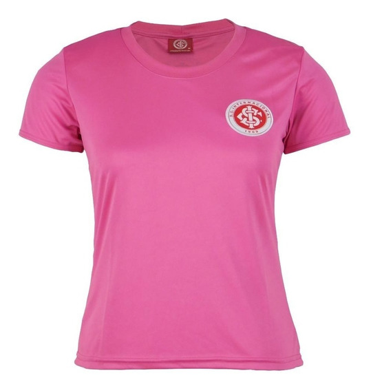 Camiseta Internacional Rosa Baby Look Feminina Black Friday